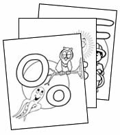 Alphabet colouring pages book