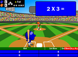 free online baseball mathematics game