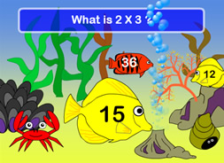 Multiplication Underwater Fish Game What2Learn