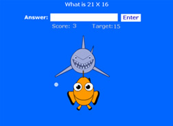 Multiplication Shark Clownfish Game What2Learn