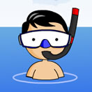swimmer scuba diver cartoon clipart