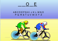 Velodrome cycling game