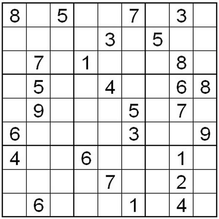 Normal level sudoku puzzle one | What2Learn