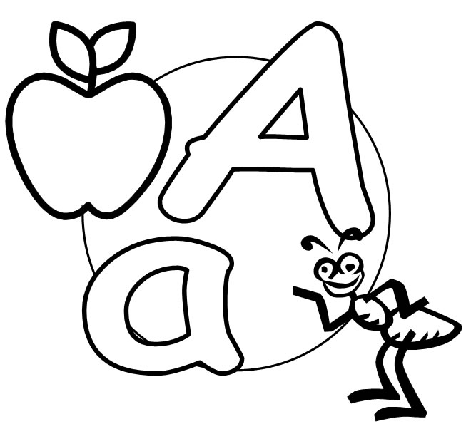 photograph regarding Printable Letter a identified as What2Study » Absolutely free Printable Alphabet the letter A