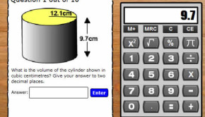 activity to calculate volume of a cylinder