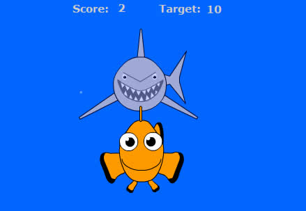 Clownfish chase game