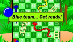 Interactive snakes and ladders-style learning game