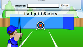 Archery anagram game