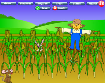 crop scarecrow farming clipart cartoon Farmer Karma What2Learn